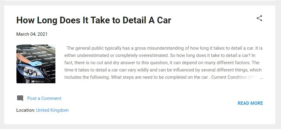 How Long does it take to detail a car (2)